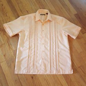 Cubavera Button Down Embroidered Shirt